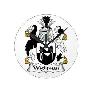 Escudo de la familia de Wightman Reloj