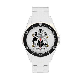 Escudo de la familia de Wightman Relojes