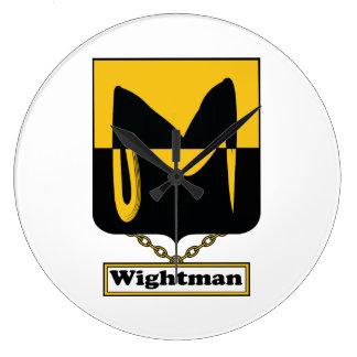 Escudo de la familia de Wightman Relojes De Pared