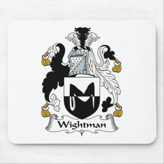 Escudo de la familia de Wightman Alfombrillas De Ratón