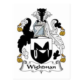 Escudo de la familia de Wightman Tarjeta Postal