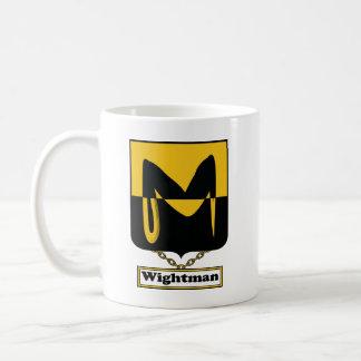 Escudo de la familia de Wightman Tazas