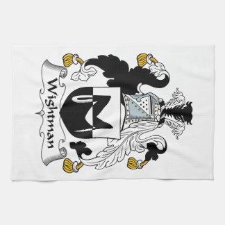 Escudo de la familia de Wightman Toallas