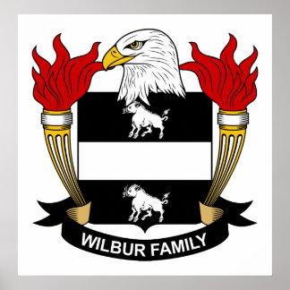 Escudo de la familia de Wilbur Poster