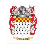 Escudo de la familia de Wilcox (escudo de armas) Postal