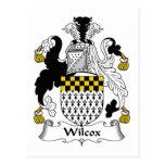 Escudo de la familia de Wilcox Postales