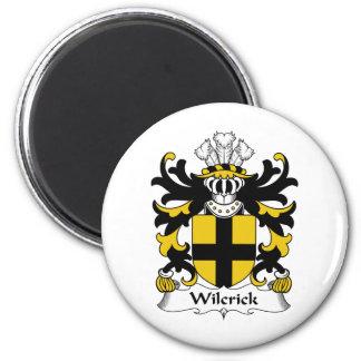 Escudo de la familia de Wilcrick Imán Redondo 5 Cm