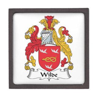 Escudo de la familia de Wilde Caja De Recuerdo De Calidad