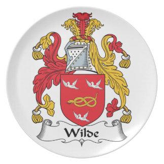 Escudo de la familia de Wilde Plato