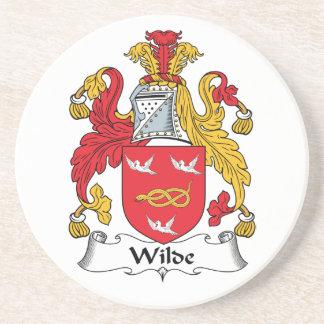 Escudo de la familia de Wilde Posavasos Cerveza