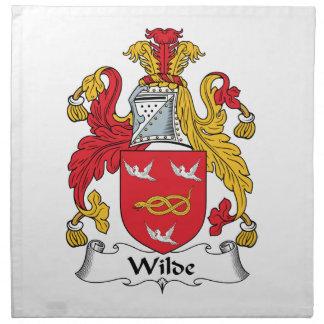 Escudo de la familia de Wilde Servilletas De Papel