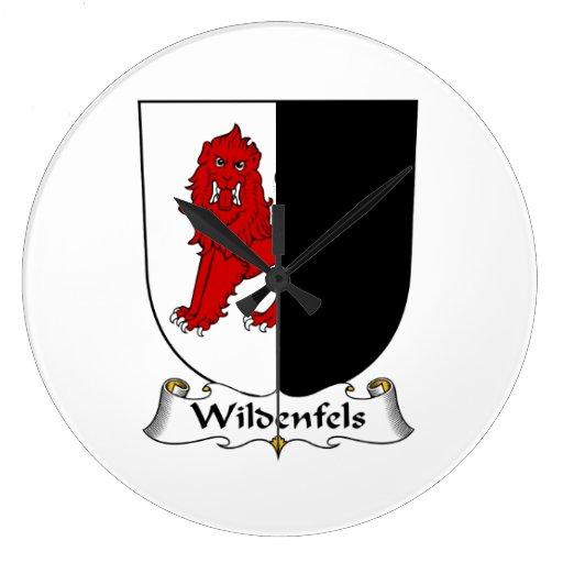Escudo de la familia de Wildenfels Reloj Redondo Grande