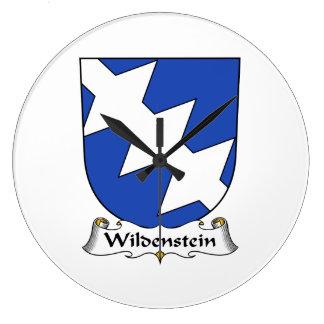 Escudo de la familia de Wildenstein Relojes De Pared