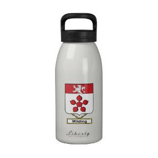 Escudo de la familia de Wilding Botella De Agua Reutilizable