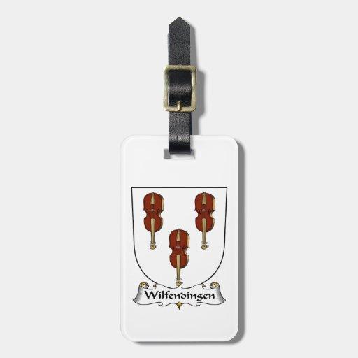 Escudo de la familia de Wilfendingen Etiqueta De Maleta