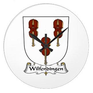 Escudo de la familia de Wilfendingen Reloj De Pared