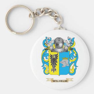 Escudo de la familia de Wilhelm (escudo de armas) Llavero Redondo Tipo Pin