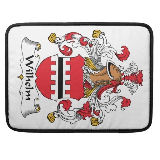 Escudo de la familia de Wilhelm Funda Para Macbooks