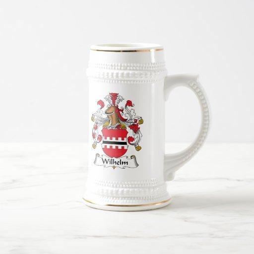 Escudo de la familia de Wilhelm Jarra De Cerveza