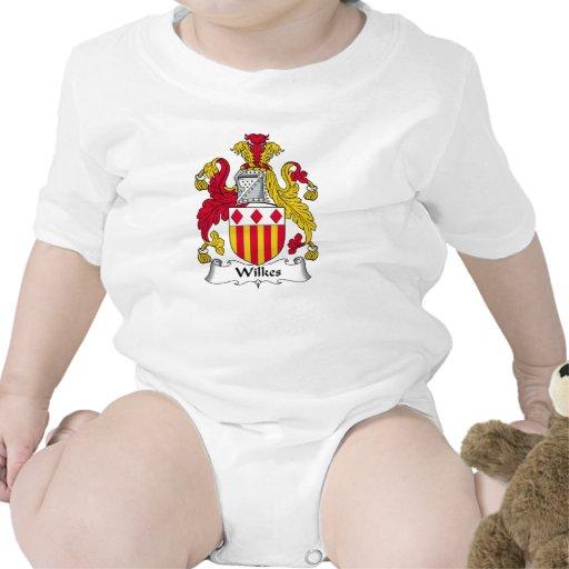 Escudo de la familia de Wilkes Camiseta