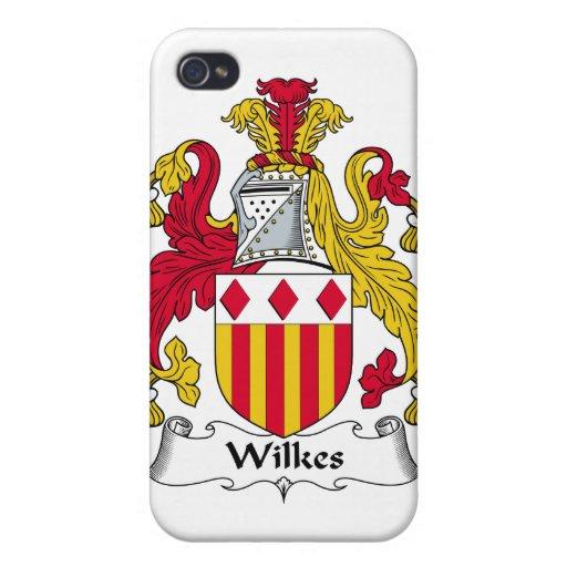Escudo de la familia de Wilkes iPhone 4 Fundas
