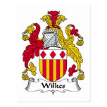 Escudo de la familia de Wilkes Postales