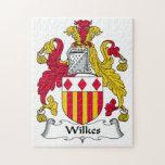 Escudo de la familia de Wilkes Puzzle Con Fotos