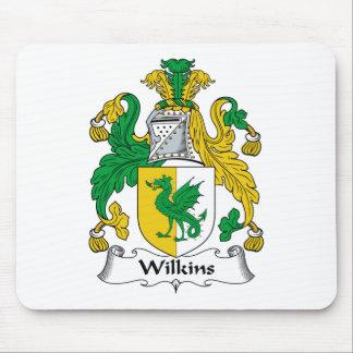 Escudo de la familia de Wilkins Alfombrillas De Ratón