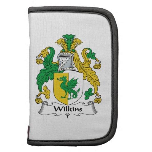 Escudo de la familia de Wilkins Planificador