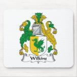 Escudo de la familia de Wilkins Tapete De Raton