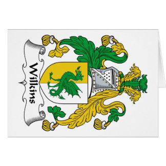 Escudo de la familia de Wilkins Tarjeta De Felicitación