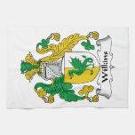 Escudo de la familia de Wilkins Toalla De Mano