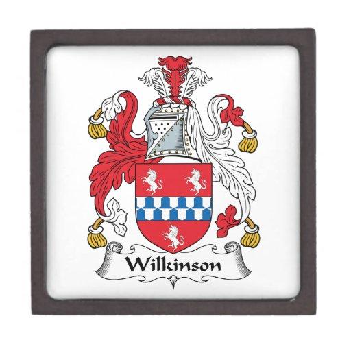 Escudo de la familia de Wilkinson Caja De Regalo De Calidad