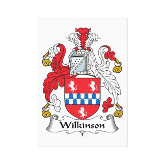 Escudo de la familia de Wilkinson Impresión De Lienzo