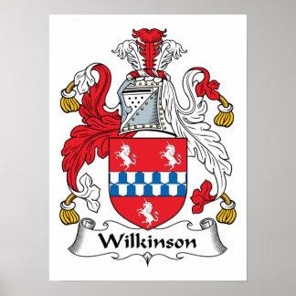 Escudo de la familia de Wilkinson Poster