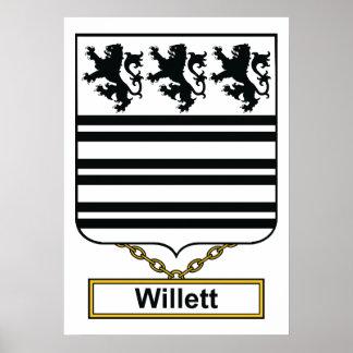 Escudo de la familia de Willett Póster