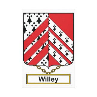 Escudo de la familia de Willey Impresion De Lienzo