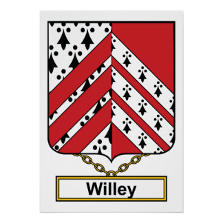 Escudo de la familia de Willey Póster