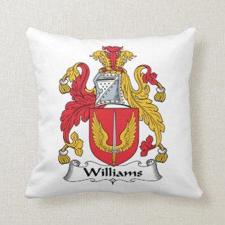 Escudo de la familia de Williams Cojín