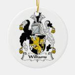 Escudo de la familia de Williams Ornamentos De Reyes Magos