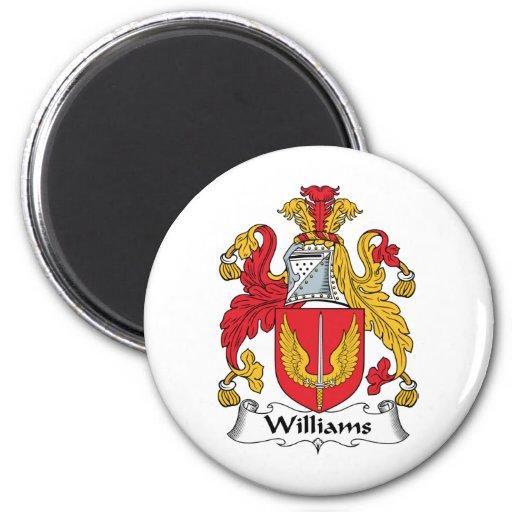 Escudo de la familia de Williams Imanes Para Frigoríficos