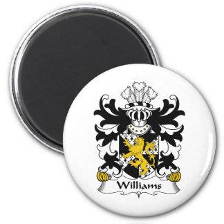 Escudo de la familia de Williams Imán Redondo 5 Cm