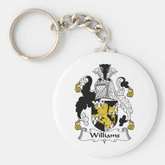 Escudo de la familia de Williams Llavero Redondo Tipo Pin