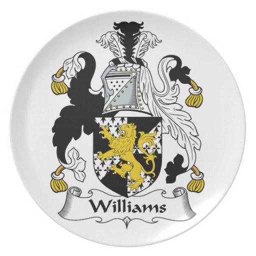 Escudo de la familia de Williams Platos