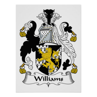 Escudo de la familia de Williams Póster