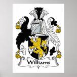 Escudo de la familia de Williams Posters