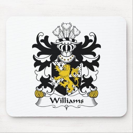 Escudo de la familia de Williams Alfombrilla De Ratón