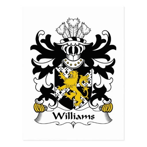 Escudo de la familia de Williams Postales