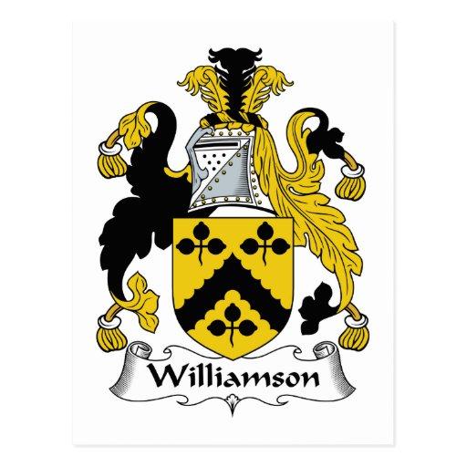 Escudo de la familia de Williamson Postales