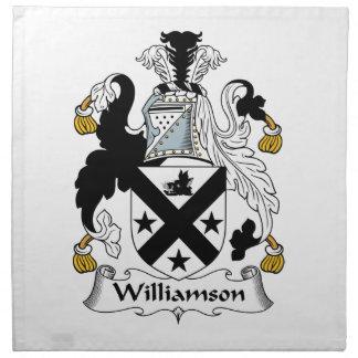 Escudo de la familia de Williamson Servilleta